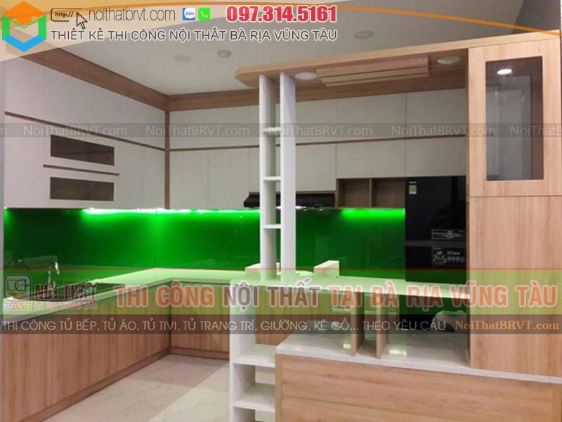 Làm tủ bếp gỗ giá rẻ ở Vũng Tàu uy tín - Nội Thất BRVT