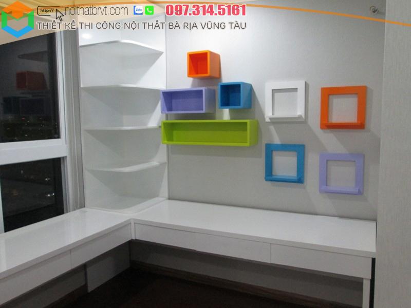 Nội thất gỗ cho phòng học của trẻ tại Bà rịa Vũng Tàu.