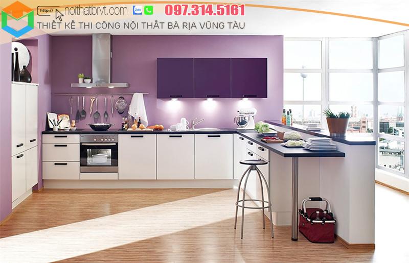 Thiết kế tủ bếp hiện đại tại Bà rịa Vũng tàu