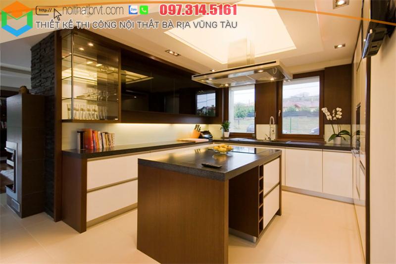 Tủ bếp đẹp đẳng cấp cho biệt thự tại Bà rịa Vũng tàu