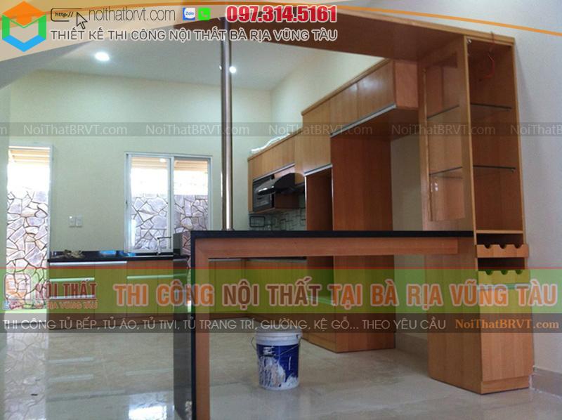 Tủ bếp gỗ tại Vũng Tàu, đỉnh cao của nội thất chất lượng